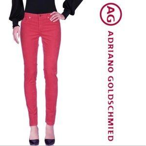 AG red poppy the stilt cigarette leg pant25R